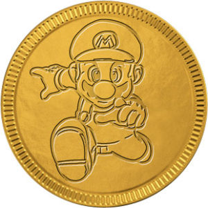 Mario chocolate coin